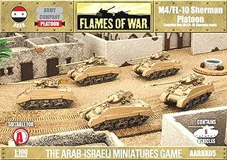 Flames Of War Model Kit - M4/fl-10 Sherman Platoon Tank - 1:100 Scale - Aarbx05