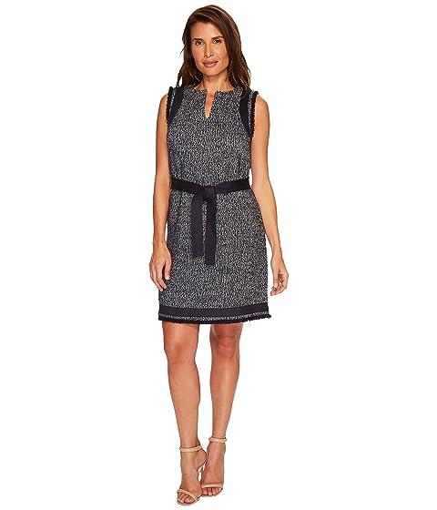 714b7560001764 Ellen Tracy Split-Neck Shift Dress at 6pm