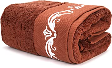 WeiWyTex 100% Pakistan Cotton Bath Sheets | Extra Large Bath Towel | 1 Piece 32x63 in | 750 GSM Luxury Five-Star Hotel Standards | Thick and Soft | Eco Certification |Red Brown|