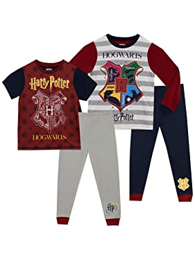 Harry Potter Boys' Hogwarts Pajamas 2 Pack
