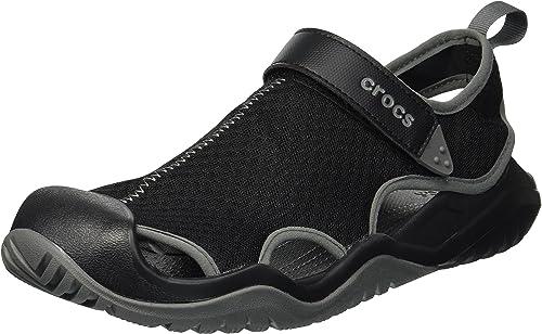Crocs Swiftwater Mesh Deck Sandal M, Zuecos para Hombre