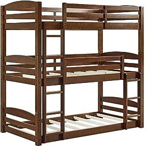 Dorel Living Sierra Triple Bunk Bed, Mocha