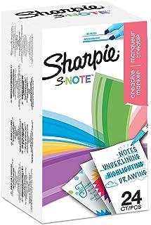 Sharpie S-Note Stylos marqueurs de couleur créatifs | Surligner, Écrire, Dessiner et bien plus encore | Couleurs assorties...