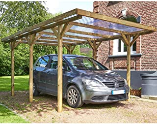 Habitat et jardin - Carport voiture toiture PVC Max - 15.56 m² - 3.04 x 5.12 m