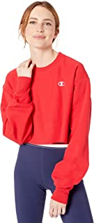 Champion LIFE Women's Reverse Weave Cropped Cut Off Crew