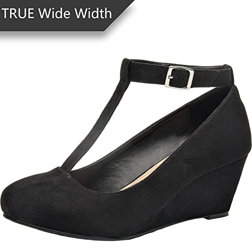 55e22d1d931 Women's Wide Width Wedge Heel: Amazon.com