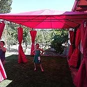 Alices Garden Pergola con toldo 3x4m - Rojo - NICAE