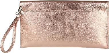 Girly Handbags Wildleder Clutch Tasche Unterarmtasche Umschlag Handgelenktasche