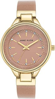 Anne Klein Womens Analogue Classic Quartz Watch with Leather Strap AK/N1408LPLP