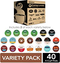 Keurig Coffee Lovers' Collection Sampler Pack, Single-Serve K-Cup Pods, Compatible with all Keurig 1.0/Classic, 2.0 and K-Café Coffee Makers, Variety Pack, 40 Count