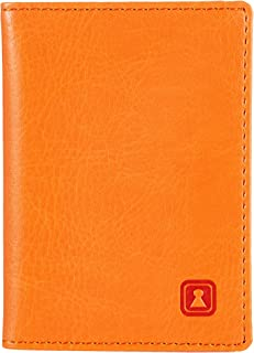 Optexx RFID Card case, Men/Women's Personal ID Credit Cards, Bank Cards, Charly Orange, Made of Vegi Leather, TÜV Tested a...