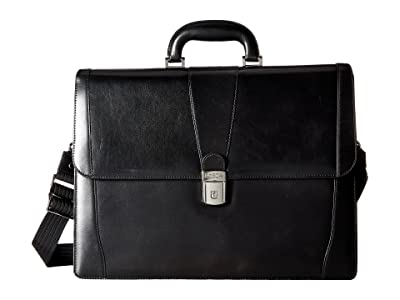 Bosca Old Leather Collection Double Gusset Briefcase (Black Leather) Briefcase Bags