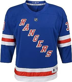 OuterStuff Henrik Lundqvist New York Rangers Youth NHL Blue Replica Hockey Jersey