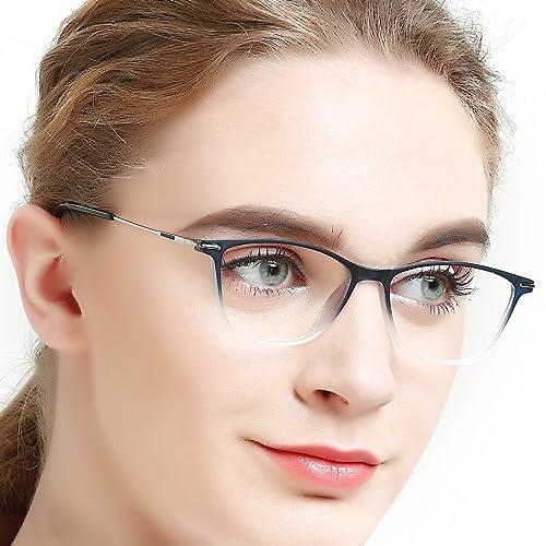 56c630d197a3 Eyewear Frames-OCCI CHIARI-Rectangle Lightweight Non-Prescription  Eyeglasses Frame with Clear Lenses