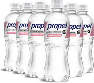 Propel, Strawberry Lemonade, Zero Calorie Sports Drinking Water with Electrolytes and Vitamins C&E, 16.9 Fl Oz (12 Count)