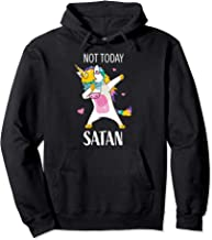 Funny Not Today Satan Christian Religious Unicorn Gift Women Pullover Hoodie