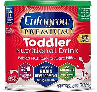 Enfagrow PREMIUM Toddler Nutritional Drink, Vanilla Flavor, Omega-3 DHA & MGFM for Brain Support, Prebiotics & Vitamins for Immune Health, Non-GMO, Powder Can, 24 Oz