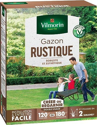 Vilmorin 4460415 Gazon Rustique, Vert, 3 kg