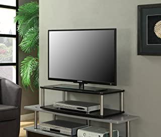 Convenience Concepts Designs2Go 2-Tier TV Swivel Board for Flat Panel TV's Up to 32-Inch or 60-Pounds, Black
