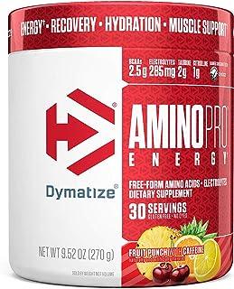 Dymatize AminoPro + Energy Endurance Amplifier Powder, Reinforced with Caffeine, Electrolytes & Amino Acids, Fruit Punch, ...