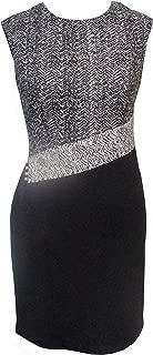 Sandra Darren Women's Petite Extended Shoulder Career Dress with Detailing on One Side