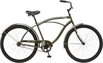Kulana Cruiser with Steel Step-Over Frame, Full Front and Rear Fenders, and Chain Guard, 26-Inch Wheels, Green