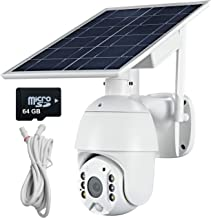 4G LTE Cellular Security Camera Outdoor with Solar Battery Power, Wire Free, Spotlight/IR Night Vision, 2 Way Audio, Motio...