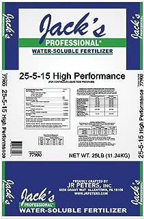 J R Peters Inc Jacks Prof 77900 High Performance Fertilizer, 25-5-15 Fertilizer, 25-Pound
