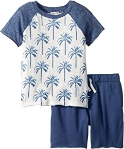 Palm Tree Raglan Set (Toddler)