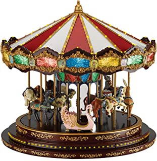 Mr. Christmas 19790 Marquee Deluxe Carousel, One Size, Multicolor
