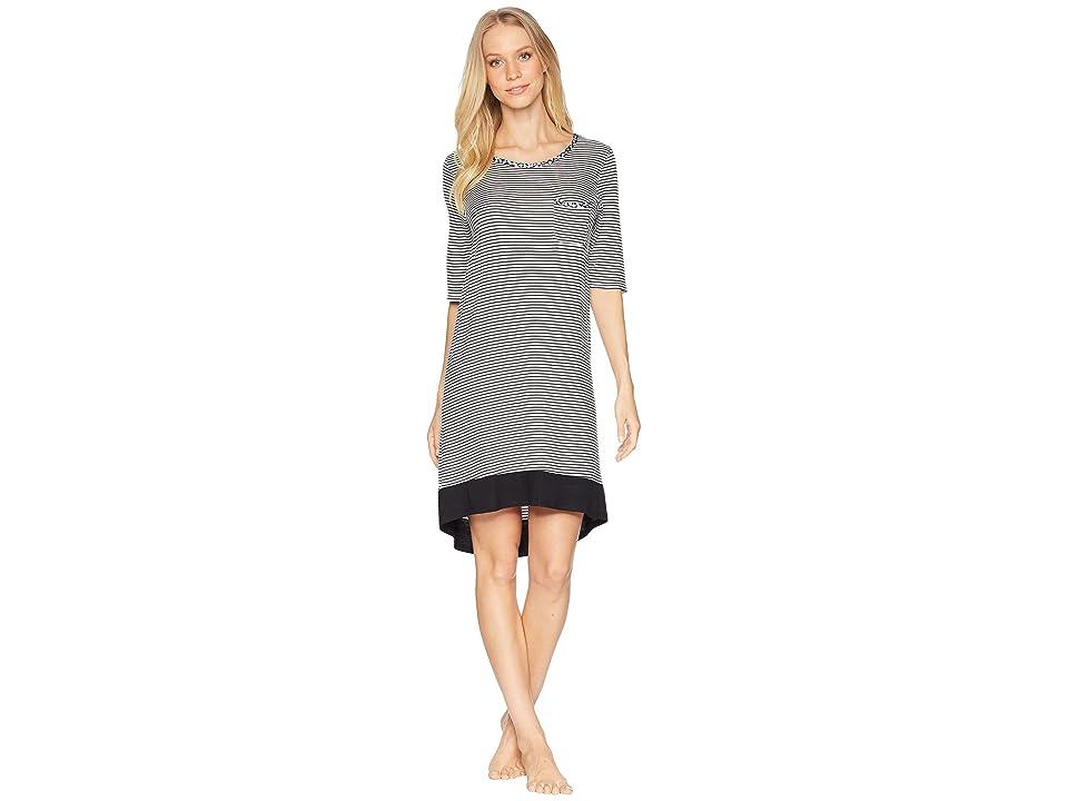 Jockey Sleepshirt (Black Stripe) Women