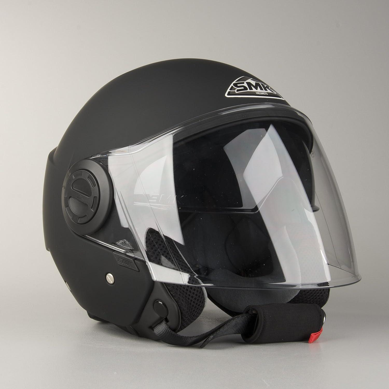Jet Cooper Smk Helm Double Matt Schwarz Visier GrÖsse M Auto