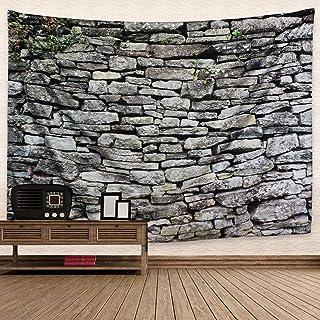 Dremisland Vintage Gris Mur De Briques Pierre Tapisserie Tissu Polyester Mur De Briques Thème Tapisserie Tenture Murale po...