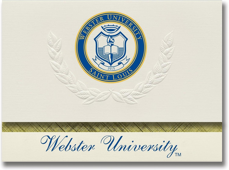 Signature Ankündigungen Webster Universität Graduation Ankündigungen, platin Stil, Elite Elite Elite Pack 20 mit Webster u. Dichtung Folie B0793FC4QX    Preisreduktion  26ed6e