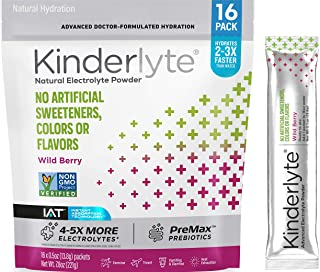 Sponsored Ad - Kinderlyte Electrolyte Powder, Advanced Hydration, Easy Open Packets, Supplement Drink Mix (Wild Berry, 16 ...