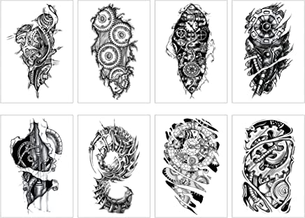 be704bba9 GGSELL 8 Sheets Temporary Tattoos Stickers Half Arm Chest Tattoo Men Tribal Totem  Tattoo Make up