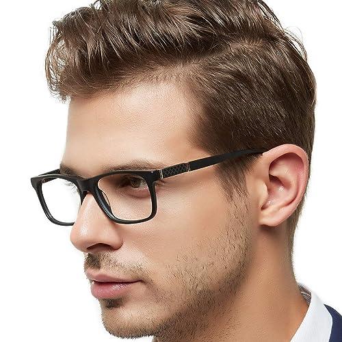 3d5de406eb1 OCCI CHIARI Men Fashion Rectangle Stylish Eyewear Frame With  Non-Prescription Clear Lens