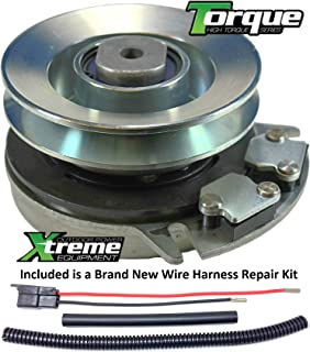 Xtreme Outdoor Power Equipment Bundle - 2 Items: PTO Electric Blade Clutch, Wire Harness Repair Kit. X0010 Replaces ALKO 521684 PTO Clutch - Upgraded Bearings!! w/Wire Harness Repair Kit