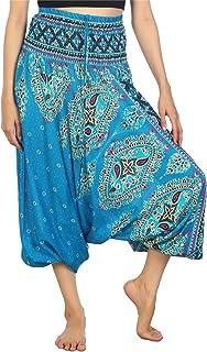 Lofbaz dam hippie boho byxor 2 i 1 haremshose & jumpsuit aladinbyxor pumphose