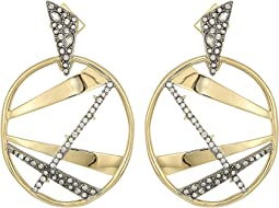 Alexis Bittar - Crystal Encrusted Plaid Dangling Post Earrings