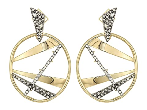 Alexis Bittar Crystal Encrusted Plaid Dangling Earring LnJwPW