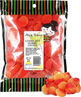 Asia Trans Lychee Gummies with Li Hing Mui Plum Powder   Hawaiian Favorite   Sweet & Sour Soft Gummy Candy