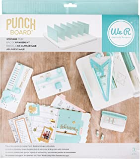 We R Memory Keepers 660092 0633356600923 Punchboard & Punch-Storage Tray (7 Piece), Off White