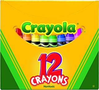 """Crayola Non-Toxic Crayon in Tuck Box (12 Pack), 5/16"""" x 3-5/8"""", Assorted Color"""