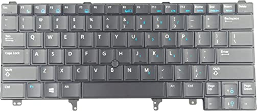 KBR Replacement Keyboard Compatible with Dell Latitude E5420 E5430 E6220 E6320 E6330 E6420 E6430 E6440 Series Laptop with Pointer Without Backlit US Layout