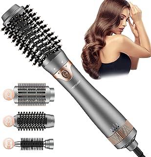 Cepillo Secador de Pelo, Cepillo alisador de pelo, Cepillo de Aire Caliente,de Peinado 3 en 1 con Rizador de Aniones de Cerámica, Reduce el Encrespamiento y La Estática Adecuado para Todo Tipo