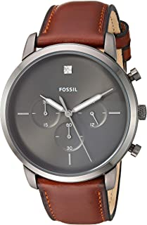 Fossil Mens Quartz Watch, Analog Display and Leather Strap FS5582