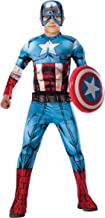 Marvel Avengers Assemble Captain America Deluxe Muscle-Chest Costume, Large