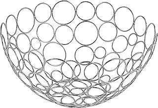 Spectrum Diversified Shapes/Circles Round Fruit Bowl, Chrome