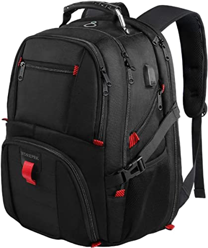 YOREPEK 18.4 Laptop Backpack,Large Backpacks Fit Most 18 Inch Laptop with USB Charger Port,TSA Friendly Flight Approv...